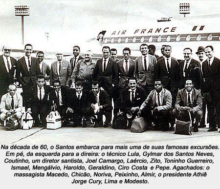 Santos embarca para Europa onde disputaria e conquistaria o IV Torneio Internacional de Paris.