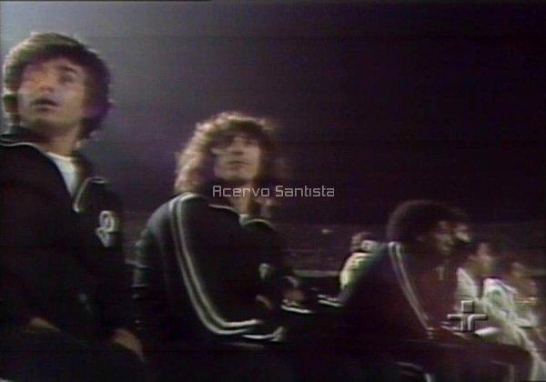 Clodoaldo, Nelson Borges e Rubens Feijão no banco na final contra o São Paulo