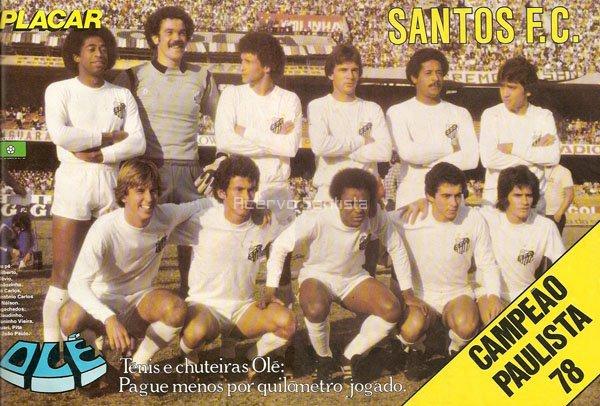 Poster Santos Campeão Paulista 1978 - Revista Placar