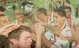 Comemoração em Rosário, na Argentina, pela conquista da Copa Conmebol em 1998.