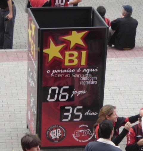 Relógio de contagem regressiva para o título do Atlético-PR: pegou mal.